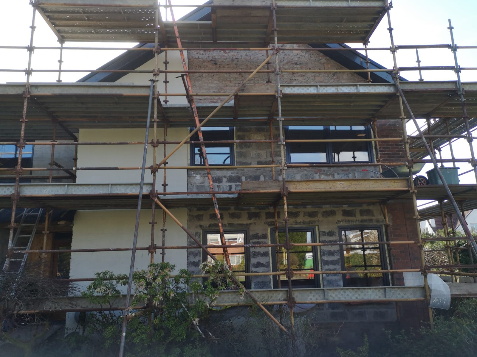 House in Bridge of Weir before Krend scratch render roughcast