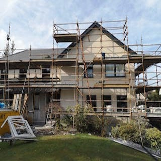 House in Bridge of Weir after roughcast