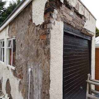 Garage before roughcast